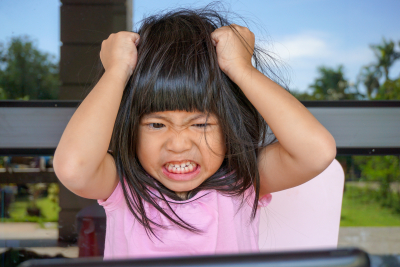 asian child with atttention deficit hyperactivity disorder